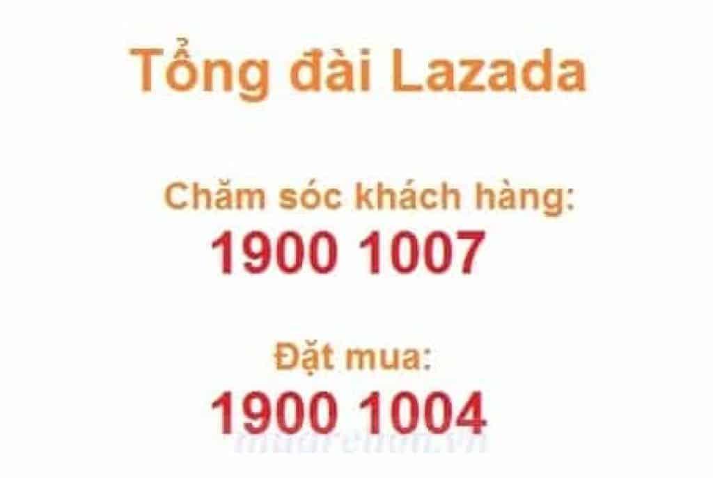 Số điện thoại Hotline Lazada tổng đài chăm sóc khách hàng 19001007
