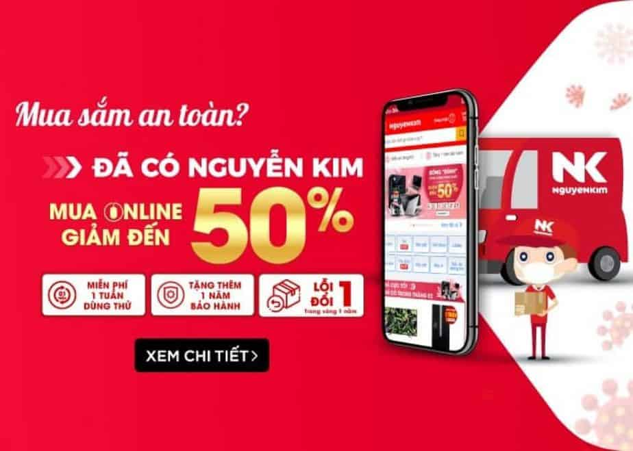 Mua sắm an toàn đã có Nguyễn Kim giảm đến 50%
