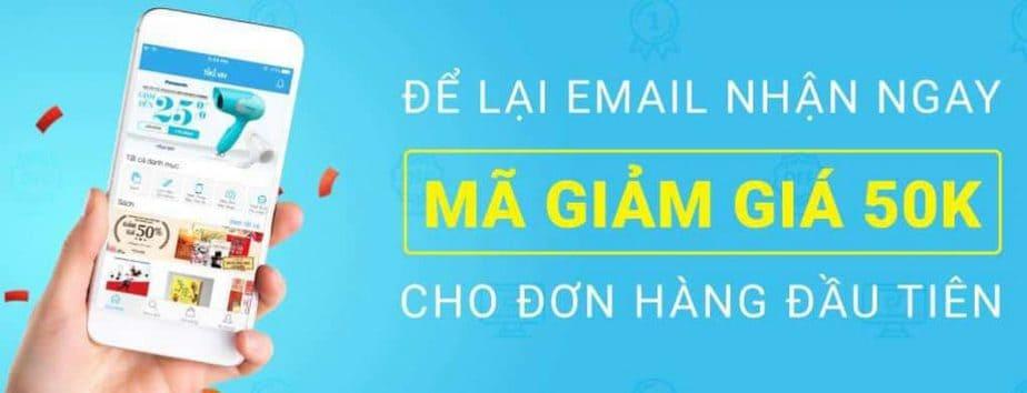 Để lại Email nhận ngay mã giảm giá Tiki cho đơn hàng đầu tiên
