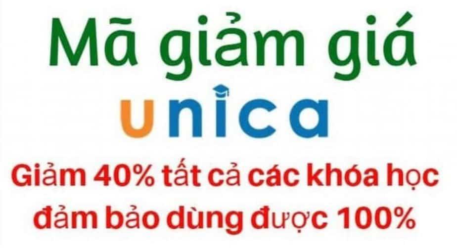 Mã giảm giá Unica 40% đảm bảo dùng được 100%