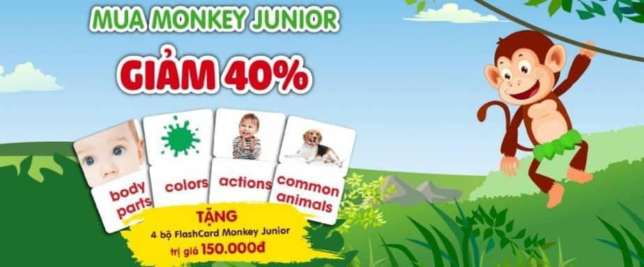 Mã giảm giá Monkey Junior 40% dùng mã khuyến mãi