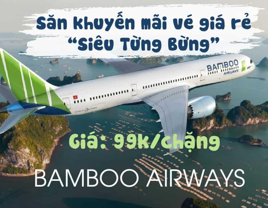 Săn vé máy bay khuyến mãi chỉ 99k/chặng từ Bamboo Airways