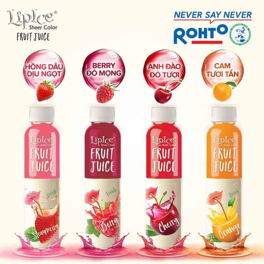Lipice Sheer Color Fruit Juice