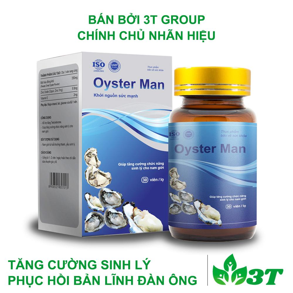 Thực phẩm chức năng tăng cường sinh lý nam giới Oyster Man (Hộp 30 Viên)
