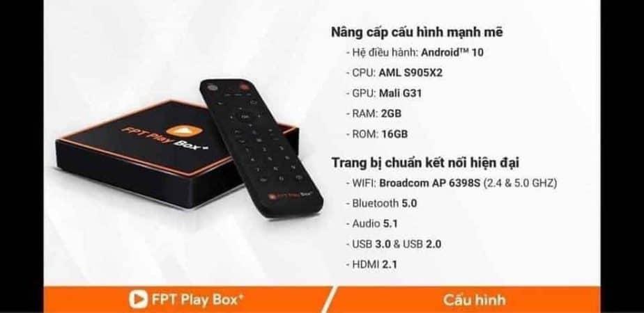 bảng cấu hình FPT Play Box+ 2020_Model S400