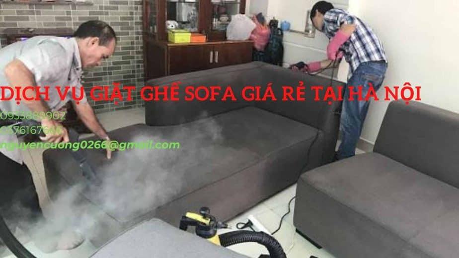 Dịch vụ giặt ghế sofa Hà Nội