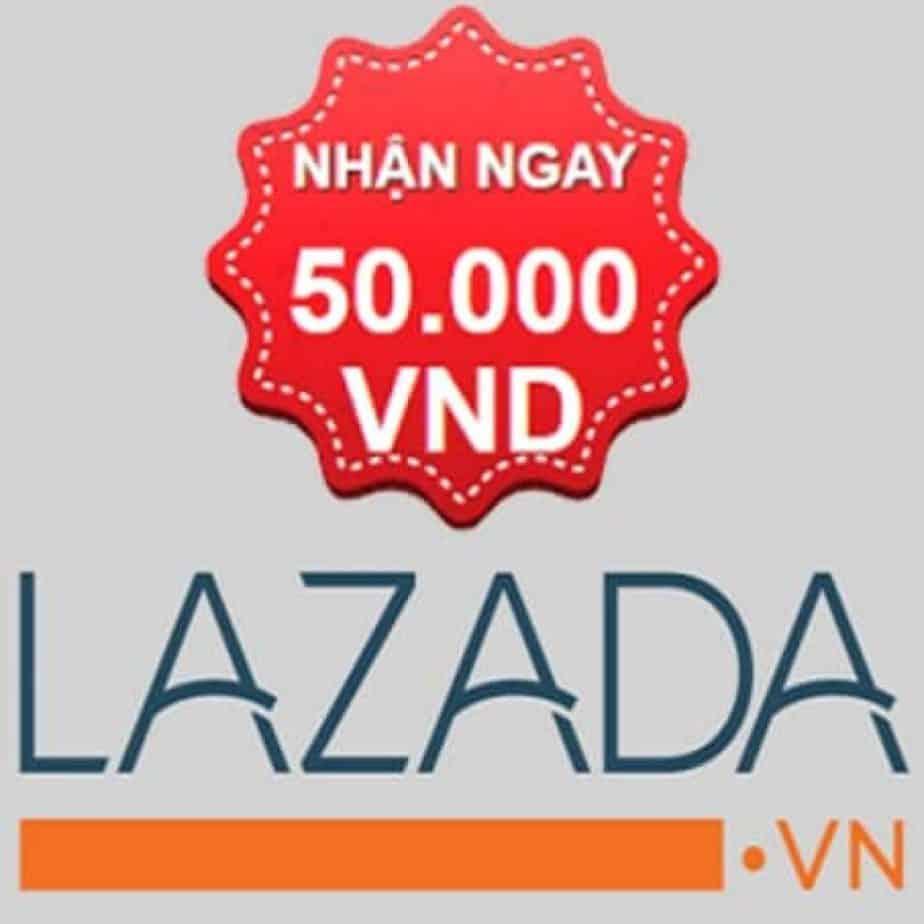 Voucher khuyến mãi 50k Lazada