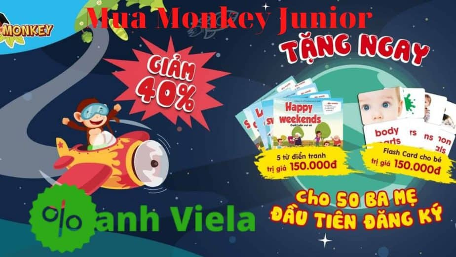 Monkey Junior giảm 40%