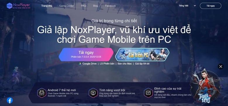 Chơi game trên giả lập Noxplayer