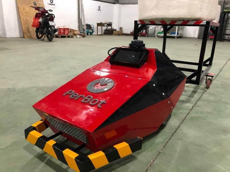 Lắp đặt xe chở hàng AGV