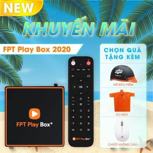 FPT PLAY BOX 2021 + Android 10 + 4K Model S550 Có Điều Khiển Bằng Giọng Nói